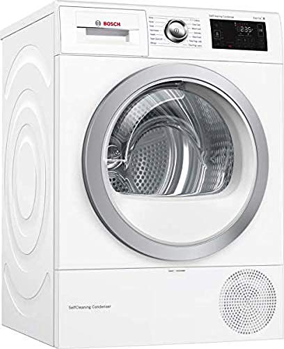 Bosch WTWH7660GB Serie 6 Freestanding Heat Pump Tumble Dryer, 9kg load, White