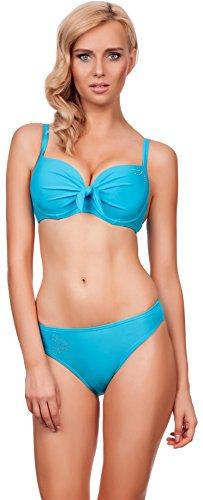LORIN Damen Bikini Suzana 5184 (Cup 85 B/Unterteil 42, Hellblau)