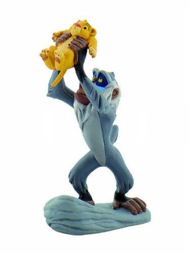 Bullyland 12256 - Spielfigur, Walt Disney König der Löwen - Rafiki mit Simba, ca. 10 cm groß, liebevoll handbemalte Figur, PVC-frei, tolles Geschenk für Jungen und Mädchen zum fantasievollen Spielen