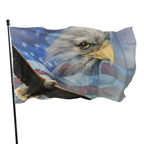 Bandera de jardín, bandera de águila americana de color vivo y resistente a los rayos UV, doble costura para patio, bandera de temporada, banderas de pared de 3 x 5 pies