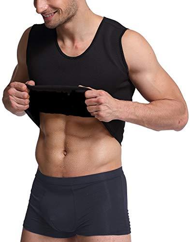 Ducomi Camiseta sin Mangas Efecto Sauna para Hombre de Neopreno - Camisa Adelgazante Disolución de Grasa para Correr Gimnasio Cycling Fitness para Entrenamiento de Banda Abdominal (EU 2XL, Black)