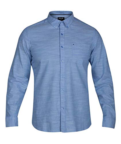 Hurley M ONE&ONLY WOVEN L/S Chemise Homme Bleu FR : M (Taille Fabricant : M)
