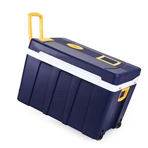 Uncle SamLI UK 50L Mini Fridge Cooler and Warmer—Blue Car Refrigerator