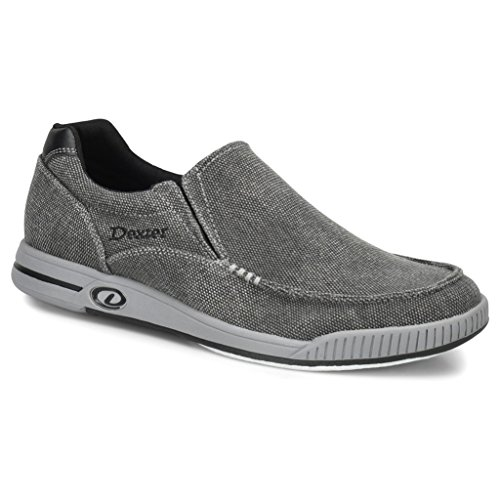 Dexter Mens Kam Bowling Shoes- 10 1/2, Charcoal/Grey, 10.5