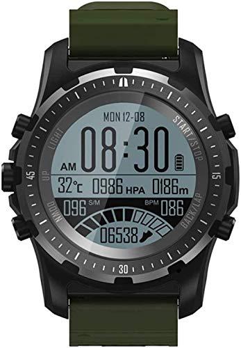 JSL Reloj inteligente GPS para mujeres y hombres, Android iOS ABC, altímetro, barómetro, brújula, reloj de pulsera con frecuencia cardíaca
