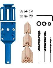 44Pcs/set Handheld Woodworking Doweling Jig Kit 6/8/10mm Drill Guide Wood Dowel Drilling Hole Saw Kit