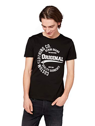 TOM TAILOR DENIM T-Shirts/Tops T-Shirt mit Print Black, XL