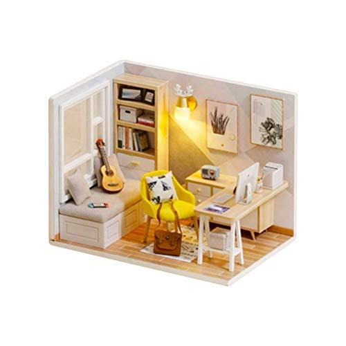 YZHM DIY Dollhouse, 1:32 Muñecas de Madera Muebles de casa Kit Miniatura Sala de Estar Chicas Sueño Habitación Hecho a Mano Artesanía para niños, Regalos de Chicas