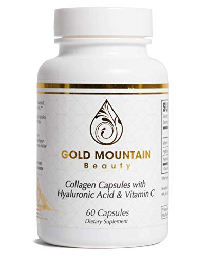 Advanced Multi Collagen Pills Supplement - Hyaluronic Acid, Vitamin C, and Collagen Protein Peptides Complex for Anti-Aging Joint Formula, Boost Hair, Nails, and Skin Health (1 Monthly Supply)