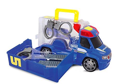 Dickie Toys - 203716005 - Véhicule Miniature - Modèle Simple - Camion Police Push & Play Accessoires Policier - 33 Cm