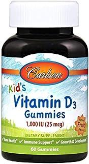 Carlson Labs Niños Vitamina D3 Gomitas. 1000 Ui Frutas Naturales 60 Unidades 170 g