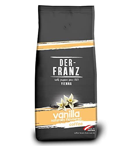 Der-Franz Kaffee, Mischung aus Arabica und Robusta, geröstet, ganze Bohne aromatisiert mit natürlicher Vanille UTZ, 1000g
