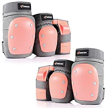 JONCOM Kids Youth Adult Skateboard Elbow Pads Knee Pads with Wrist Guards 3 in 1 Protective Gear Set for Skateboarding Skating Cycling Biking Bicycle Scooter
