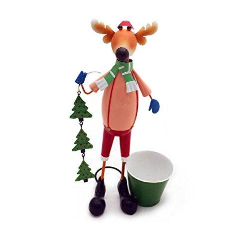 Gall&Zick Blumentopf Pflanztopf Übertopf Topf Figur Weihnachten Elch Schneemann Dekoration (Elch)