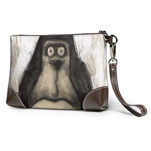 GLGFashion Sac à main en cuir pour femme Mr. Ape Man Portable Travel Toiletry Bag Makeup Organizer Cosmetic Bag Pouch For Women Girl