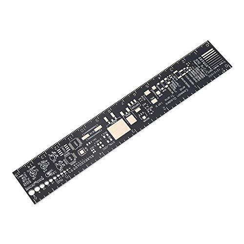Accesorios electrónicos 5 unids 15 cm PCB Multifuncional Regla de la Herramienta de medición de la Herramienta de la Resistencia del Condensador IC IC SMD DIODE Transistor Paquete ELECTRÓNICE LINEAJE