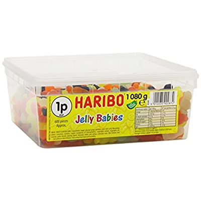 haribo jelly babies jelly men, bulk sweets, 2 x 1080g tubs HARIBO Jelly Babies Jelly Men, bulk sweets, 2 x 1080g tubs 41AXyooOZeL