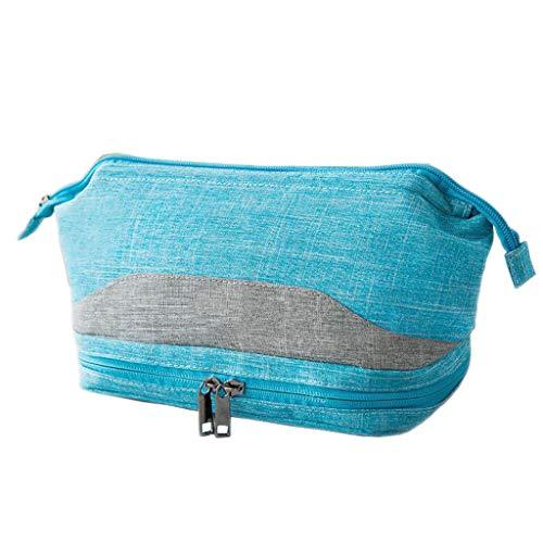 Lavage Cosmétique Sac De Stockage Séparation Humide Portable Grande Capacité Multi-Fonction Voyage Simple Universel Multi-Couleur 24 * 13 * 16cm (颜色 C