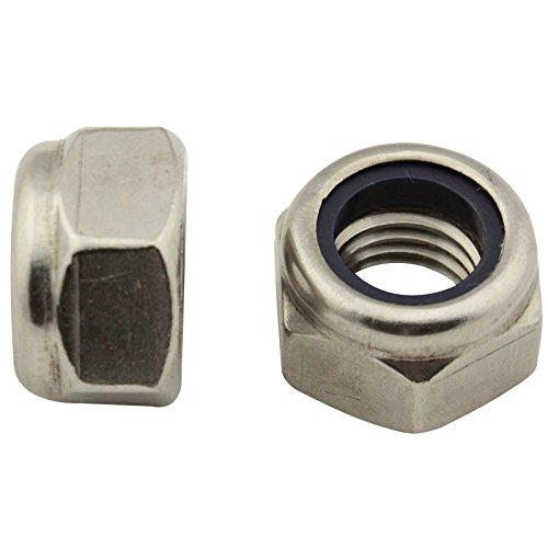Sicherungsmuttern (Standard Ausführung) - M6 - (50 Stück) - DIN 985 / ISO 10511 - Stoppmuttern - Edelstahl A2 (V2A) - SC985 | SC-Normteile