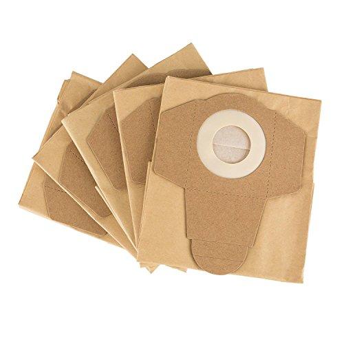 Klarstein Staubsaugerbeutel - Staubbeutel, Nachfüllpackung, geeignet für Reinraum 2G Nass-Trockensauger, 5 Stück, Papier, perfekte Passform, ca. 47 x 14 x 29,5 cm (BxHxT), braun