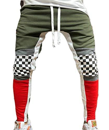 Hibasing Los Hombres Apretados Pantalones Pequeños Pies Cierre Lazo Pantalones Slim Fit