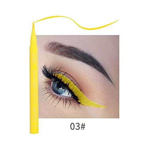 Delineador mate Maquillaje impermeable de larga duración Delineador líquido para ojos Azul Verde Blanco Oro Marrón Delineador de ojos ColoridoSecado rápido
