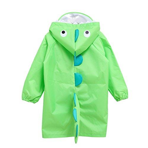 Vine Bambini Pioggia Cappotto Unisex Impermeabile Coprizaino Poncho Giacca da Pioggia con Cappuccio per Ragazze & Ragazzi, S/per 2-4 Anni