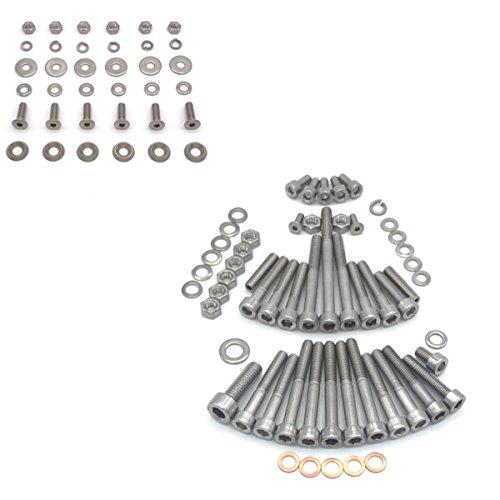 SIMSON SCHWALBE KR51/1 KF Roue Vis en acier inoxydable pour moteur + marchepieds