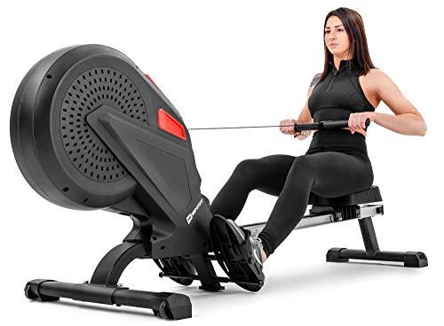 Hop-Sport Luft-Rudergerät Rush Air-Rower mit Computer, Luft Air Rower klappbar für Zuhause, 8 Luftwiderstandsstufen