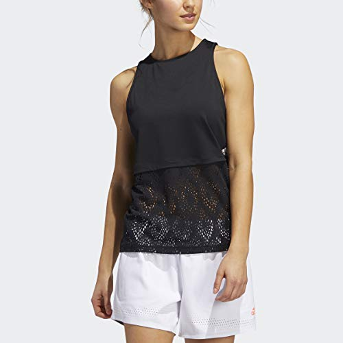 adidas Primeblue Camiseta sin Mangas para Mujer, Mujer, Camiseta de Tirantes Anchos, GLN77, Negro, Medium