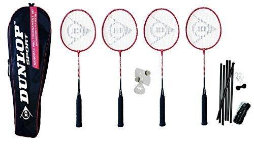 Dunlop NanoMax Pro Premium 4 Spieler Badminton Set