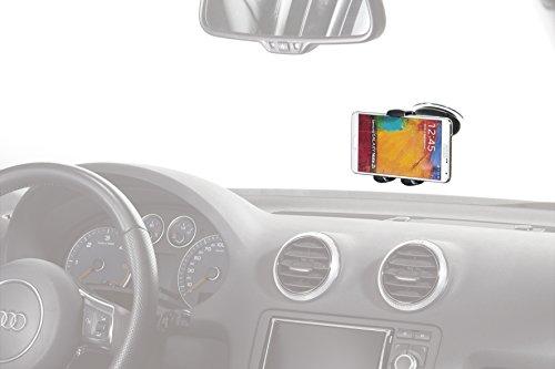 hr-imotion Universal Halterung Quicky Smart Amigo für alle Smartphones & Handys zwischen 58 und 84mm [5 Jahre Garantie I Made in Germany I 360 Grad drehbar I vibrationsfrei I Einhandbedienung]