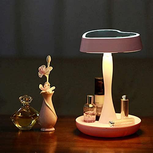 Decoración de muebles y cocina, Espejo de maquillaje iluminado con aumento de 3 aumentos desmontable Espejo cosmético de encimera LED con lámpara de escritorio Atenuación de la pantalla táctil 3 modo