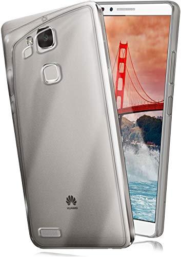 moex Aero Hülle kompatibel mit Huawei Ascend Mate 7 - Hülle aus Silikon, komplett transparent, Klarsicht Handy Schutzhülle Ultra dünn, Handyhülle durchsichtig einfarbig, Klar