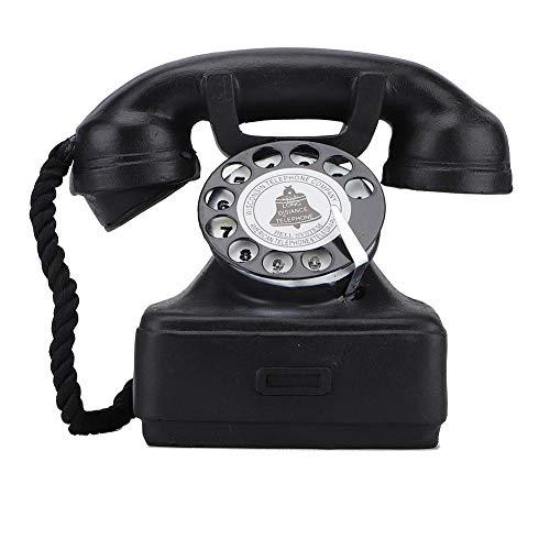 Accesorio para teléfono antiguo Retro giratorio con cable Old Fashion Teléfono fijo...