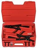 KS Tools 500.1300 Pack alicates para Anillos de retención Seeger, con función de carraca, 14pcs, Set de 14 Piezas