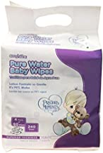 Cooshkins Precious Moments 99% Aqua Pure Sensitive Water Baby Diaper Wipes , Kind & Gentle (4 Pack x 60 Count = 240 Wipes)