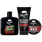 Hipster Men's Grooming Kit | Combo of Facewash, Apple Cider Shampoo, and Hair Wax | Strong and Smooth Hair | Strong Hold, Shine, Hair Style, Re-Styling, Adds Volume, Smooth and Shine | Made In India