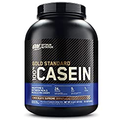Optimum Nutrition Gold Standard 100% Micellar Casein Protein Powder, Slow Digesting, Helps Keep You Full, Overnight Muscle Recovery, Chocolate Supreme