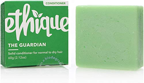 Ethique Eco-Friendly Solid Conditioner Bar for Normal-Dry Hair, Guardian - Sustainable Natural Conditioner, Plastic Free, pH Balanced, Vegan, Plant Based, 100% Compostable and Zero Waste, 2.12oz