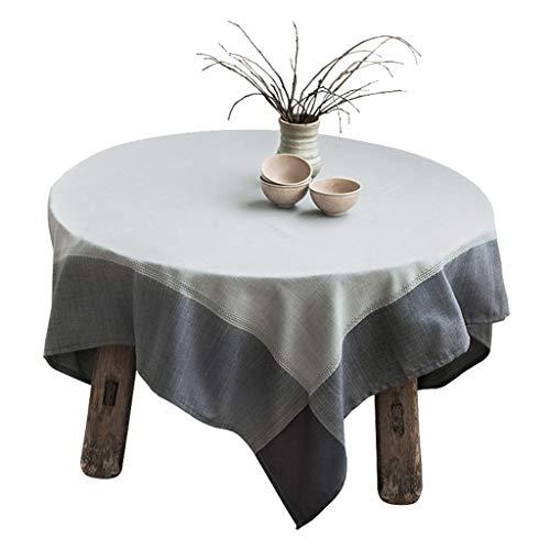 Zhuobu Moderne Minimalistische tafelkleed katoen en linnen Fabric Fresh tafelkleed rechthoekige salontafel Doek (Artisan Gray tafelkleed -39,4 * 51,2 Inches)