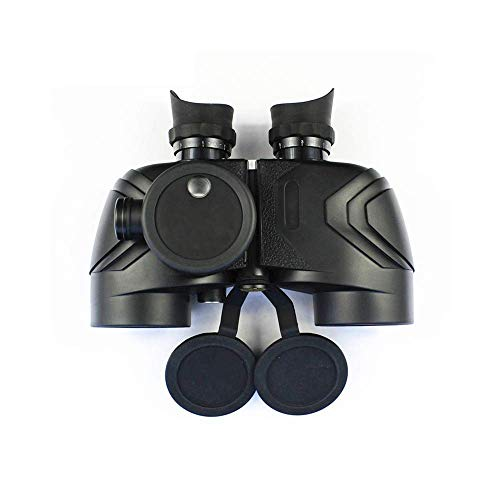 HYY-YY Teleskop 7X50 High Power Wasserdichtes Fernglas Weitwinkel-Entfernungsmesser Fernglas mit HD-stabilisierter Kompass, Teleskop-Binokel