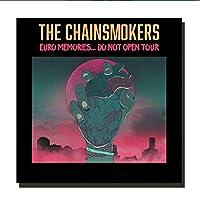 Qwgykr Chainsmokers2018ラップミュージックミュージックアートポスター絵画プリントリビングルーム家の装飾-50X50Cmフレームなし