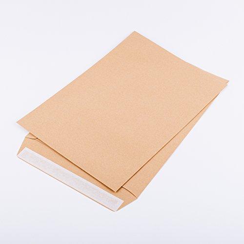 Versandtaschen DIN B4 250 x 353 mm braun 120 g/m² ohne Fenster haftklebend (380120) (100)