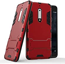 Half-wrapped Cases - 3D Armor Case for 7.1 8.1 for 5 TA-1053 TA-1024 for 5.1 Plus for 6.1 Plus 6 2018 Phone cover Case coque> (GTX RD for Nokia 5.1 Plus)