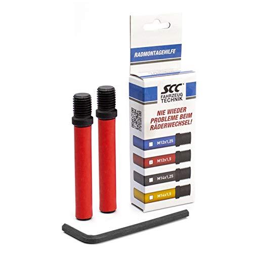 SCC Fahrzeugtechnik Radmontagehilfe Montagebolzen Werkzeug Radwechsel Reifenwechsel (M12x1,5)