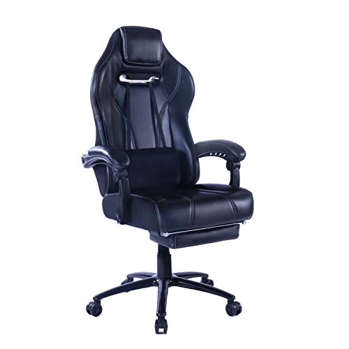 Healgen Racing Style Gaming Chair with Footrest E-Sports Height Back...
