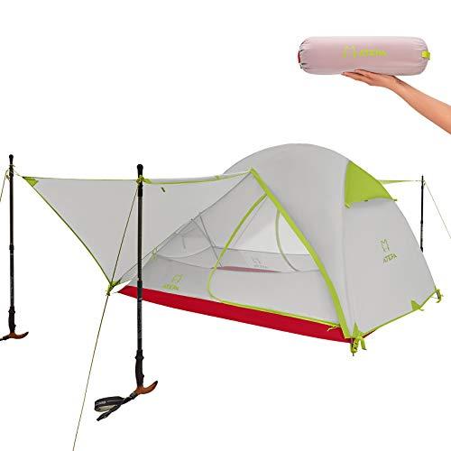 ATEPA Zelt 2 Person Kuppelzelt Leicht Wasserdicht PU3000MM Einfach Aufbauen und Verpacken Mit Tragetasche Für Outdoor Camping Wandern