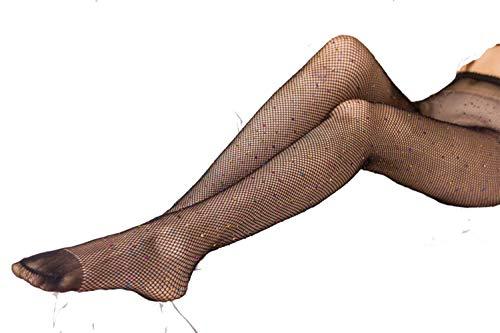 Egurs netpanty met kleurrijke strass net strass elastische kousen glitter panty voor vrouwen meisjes