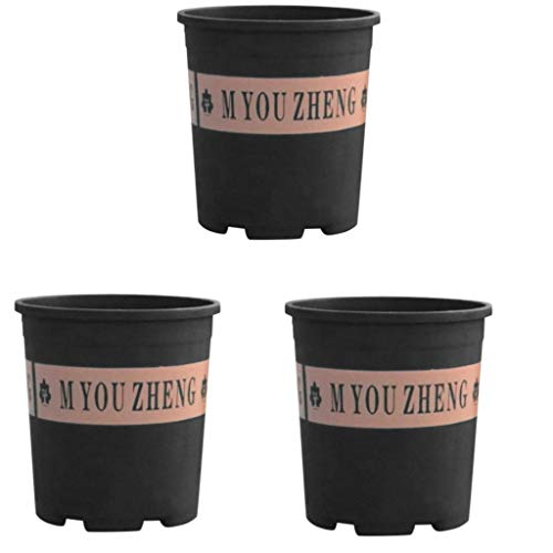 Pflanzcointainer Anzuchttopf Containertopf Kunststoff 3 Stck-Pflanztöpfe Rundetopf Profi Anzuchttopf Pflanztopf Blumentopf Vierkant-Töpfe-16cm